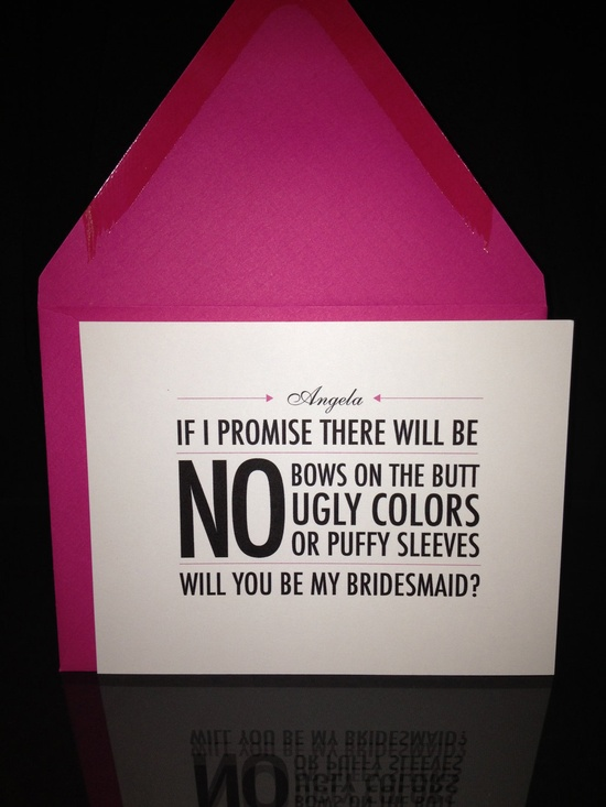 Bridemaid Invites
